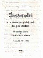 Insemnari manuscrise carti vechi din