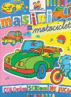 Masini motociclete Carte colorat