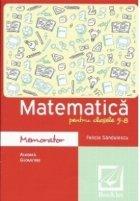 Memorator de matematica pentru clasele 5-8 (algebra, geometrie)