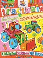 Tractoare buldozere camioane Carte colorat