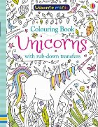 Unicorns colouring book with rub-down transfers